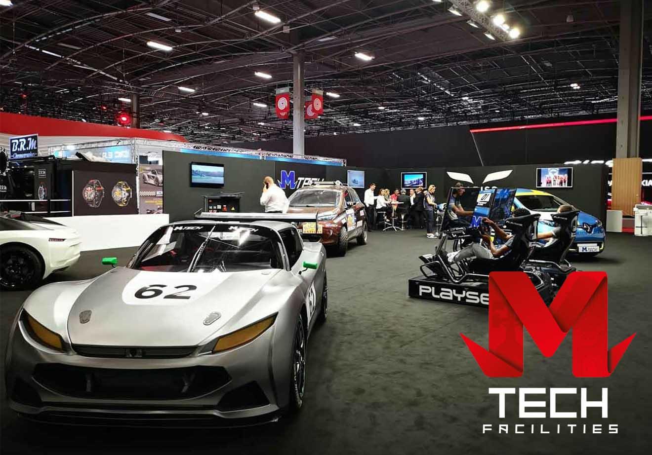 MTech Facilities Agence événementielle secteur automobile - MTech Facilities - Photo du stand avec des véhicules lors d'un salon automobile