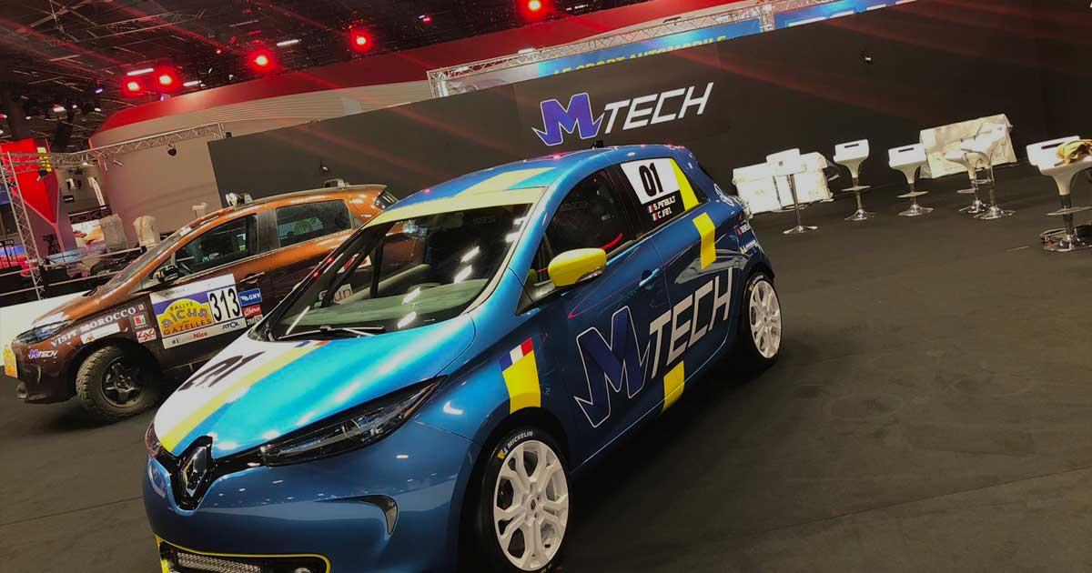 MTech Logistique automobile - Photo du salon de l'automobile 2018 avec les véhicules